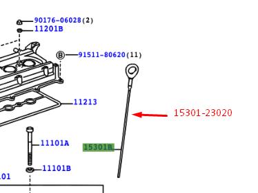 *NEW* GENUINE TOYOTA YARIS AURIS ENGINE DIPSTICK 15301-0T020