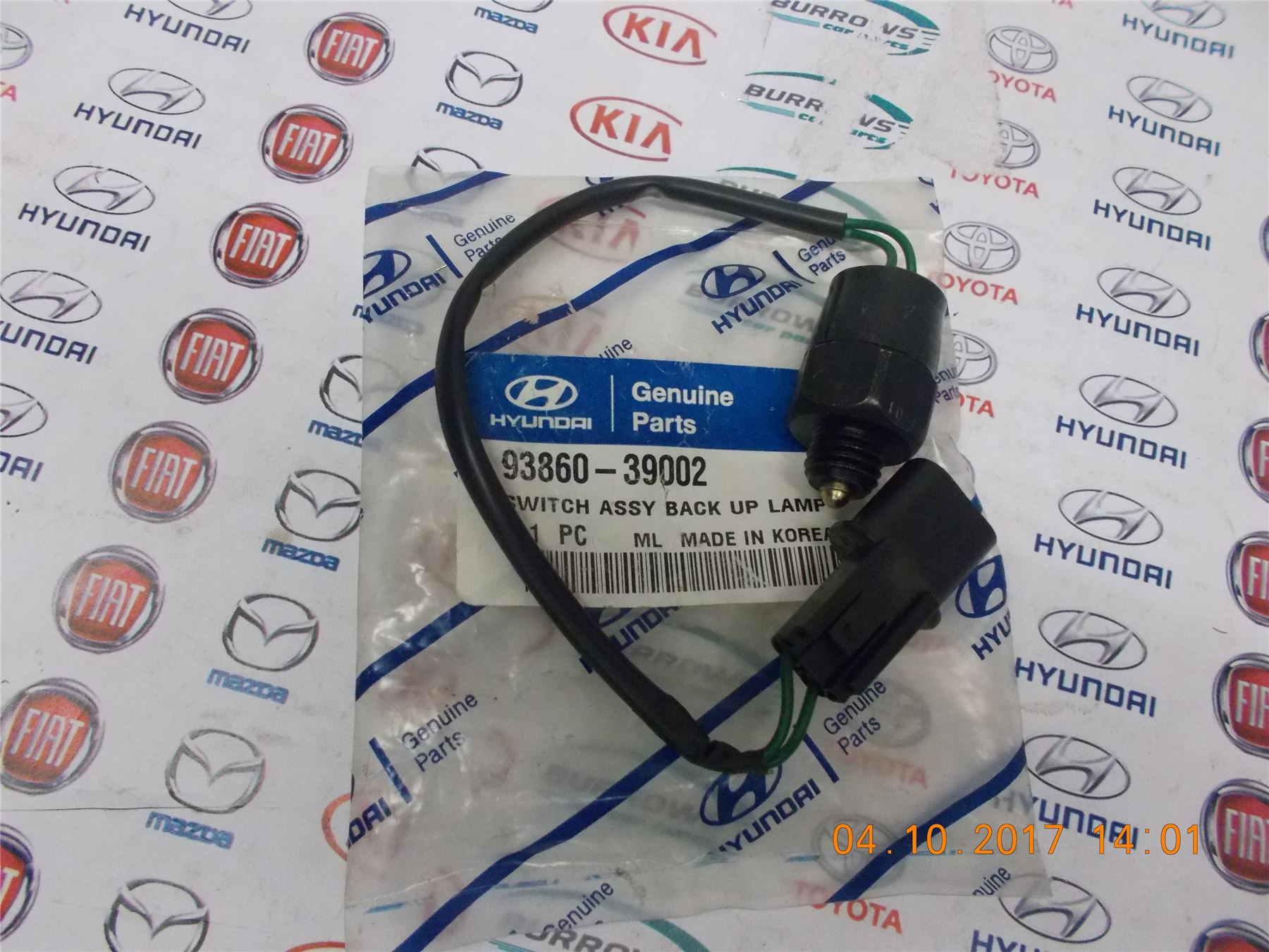 Genuine Hyundai Elantra/Lantra 2000 On Back Up Lamp Switch - 9386039002