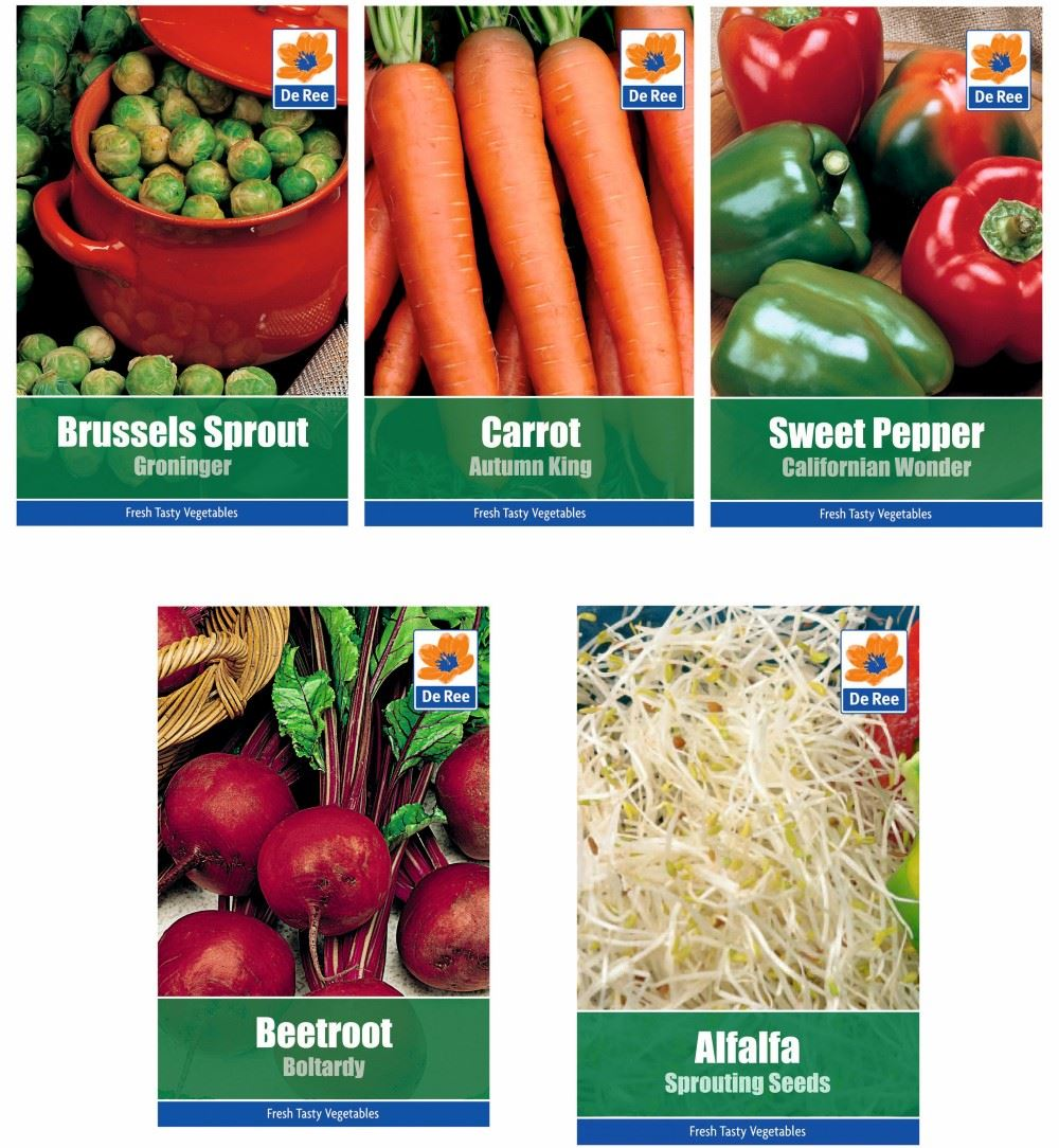 9b8bc4a93405 5 PACKETS of VEGETABLE SEEDS - Alfalfa