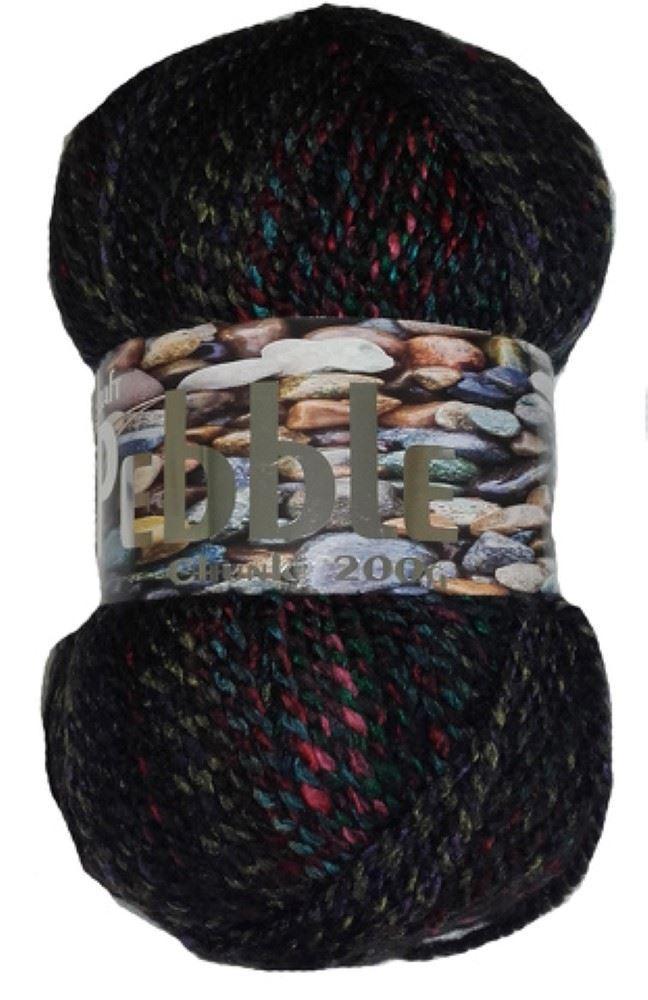 200g Acrylic PEBBLE Multi Coloured Knitting YARN Loads of Colours