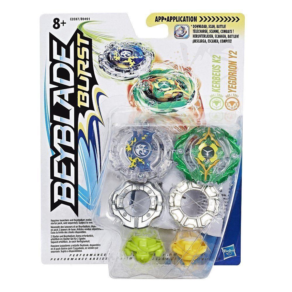 Beyblade Burst - Dual Pack - Kerbeus K2 And Yegdrion Y2