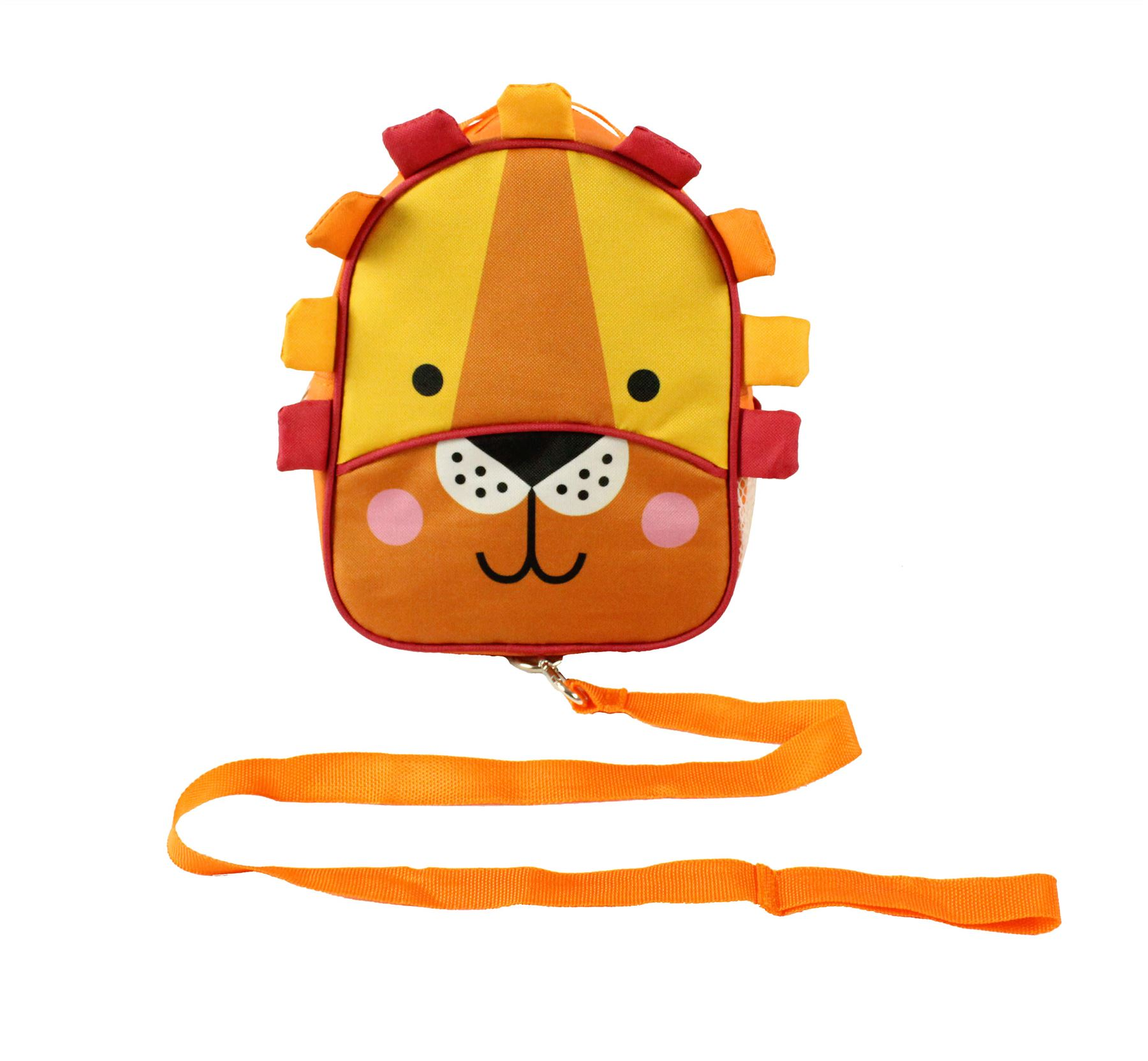 Backpack With Reins (orange Lion)