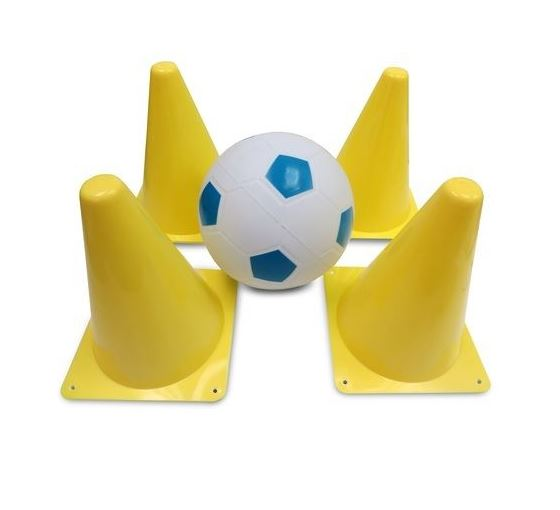 Mookie Soccer Ball And Cones Fun Outdoor Toys Kids Children