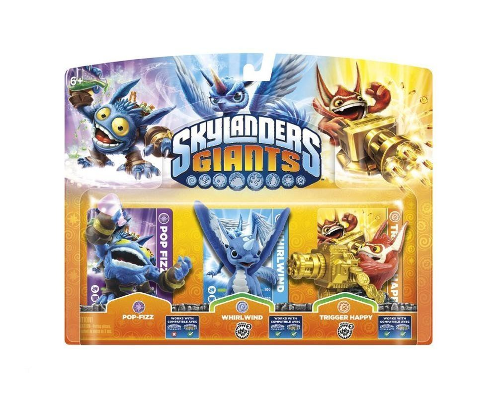 Skylanders Giants Triple Pack Pop Fizz - Whirlwind - Trigger Happy
