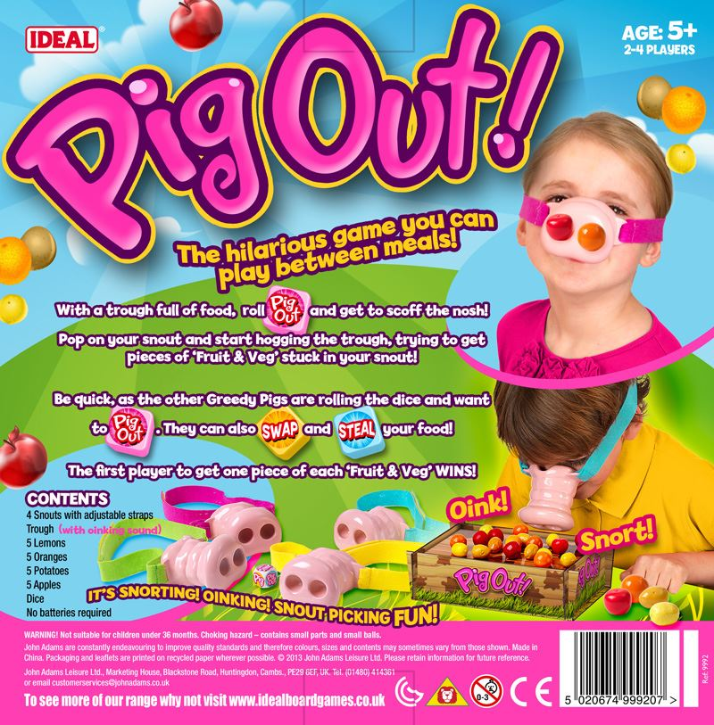 John Adams Games Pig Out Fun Game For Kids NEW