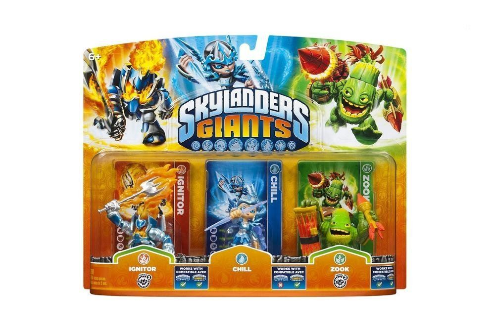 Skylanders Giants Triple Pack Ignitor - Chill - Zook