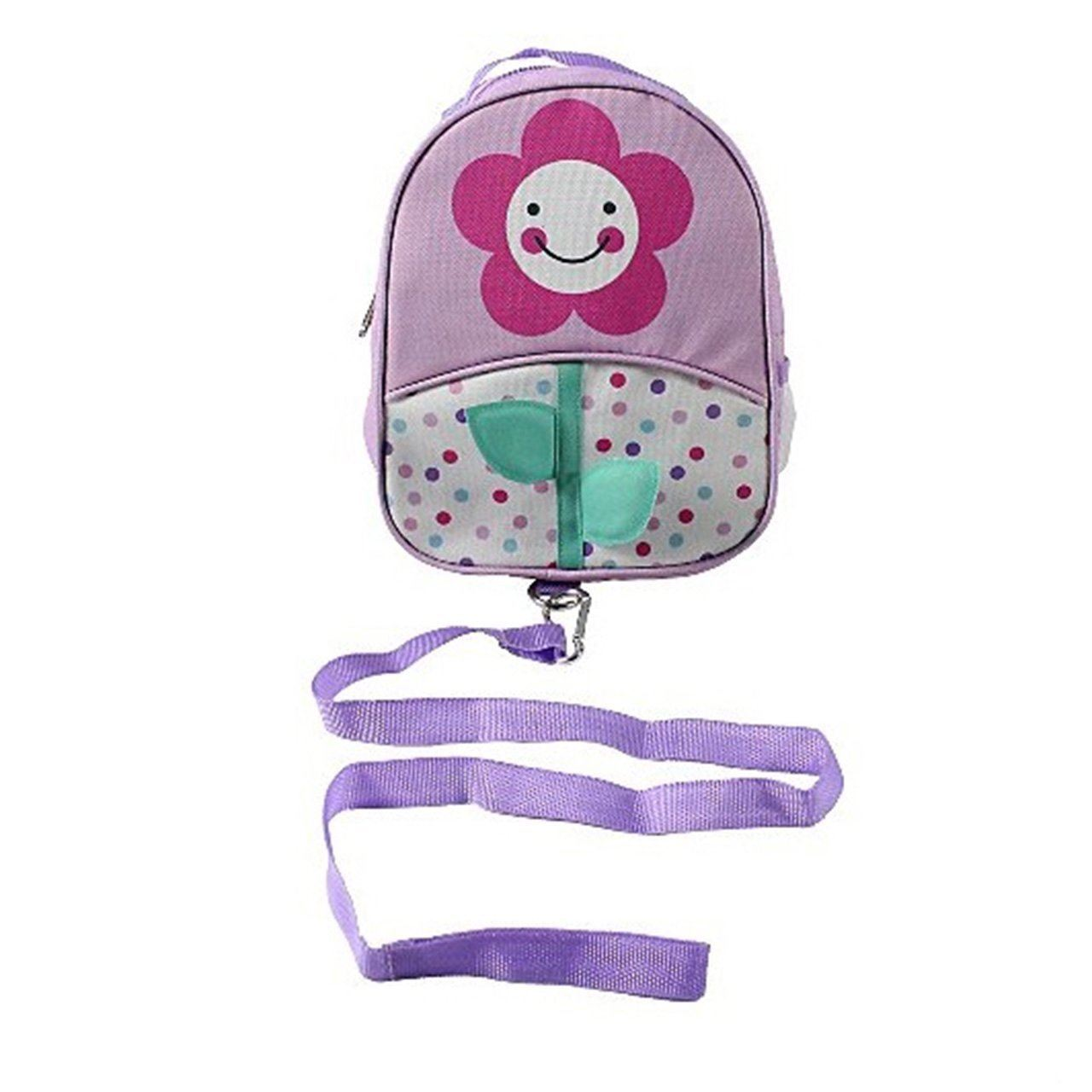Backpack With Reins (purple Flower)