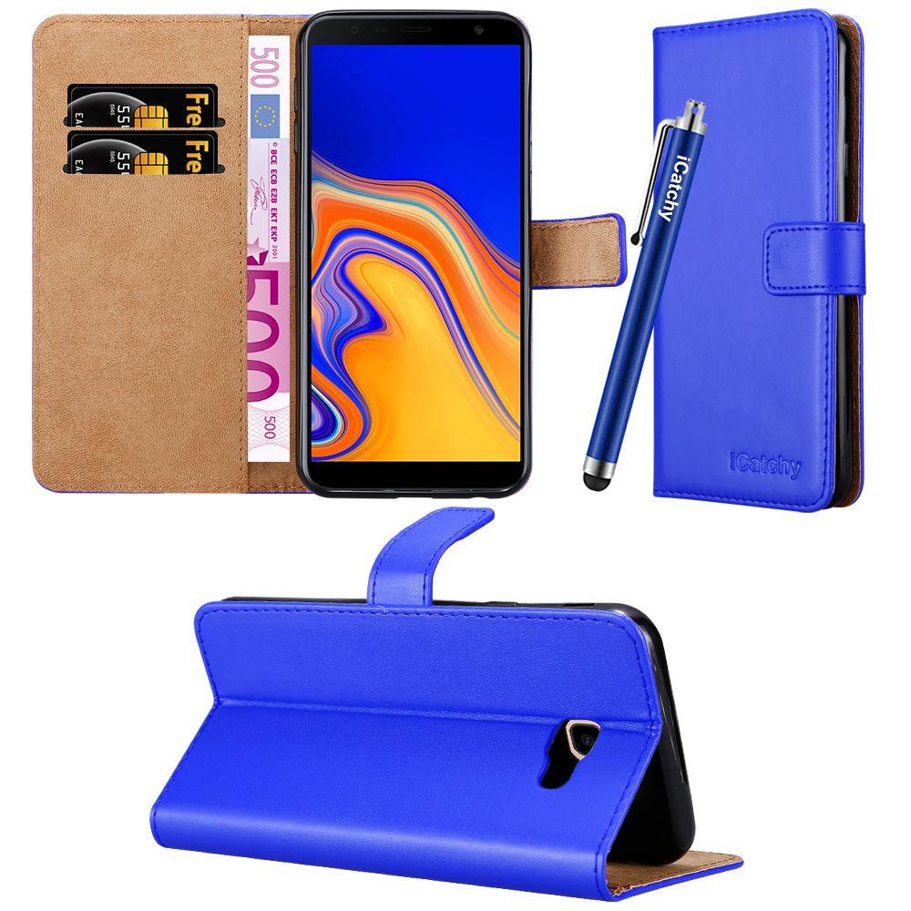 Miagon f/ür Samsung Galaxy J4 Plus 2018 Leder H/ülle,Klapph/ülle mit Kartenfach Brieftasche Lederh/ülle Stossfest Handy H/ülle Klappbar,Blau Panda