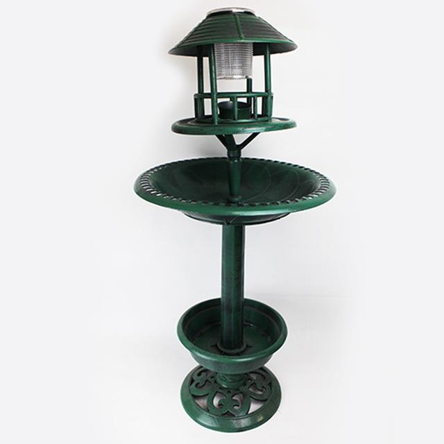 Bird-Bath-Feeder-Bowl-With-Solar-Light-Garden-amp-Patio-Bird-Feeding-Table-Station thumbnail 13