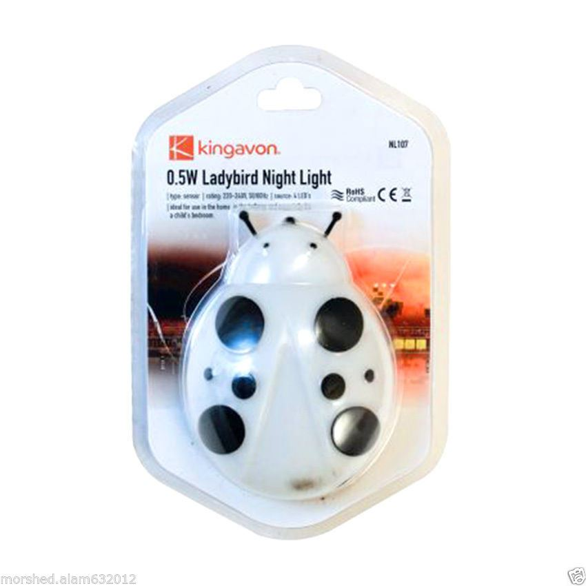 0-5W-LED-Night-Light-Plug-in-Ladybird-Home-Hallway-Child-Safety-Bedroom-Sensor thumbnail 7