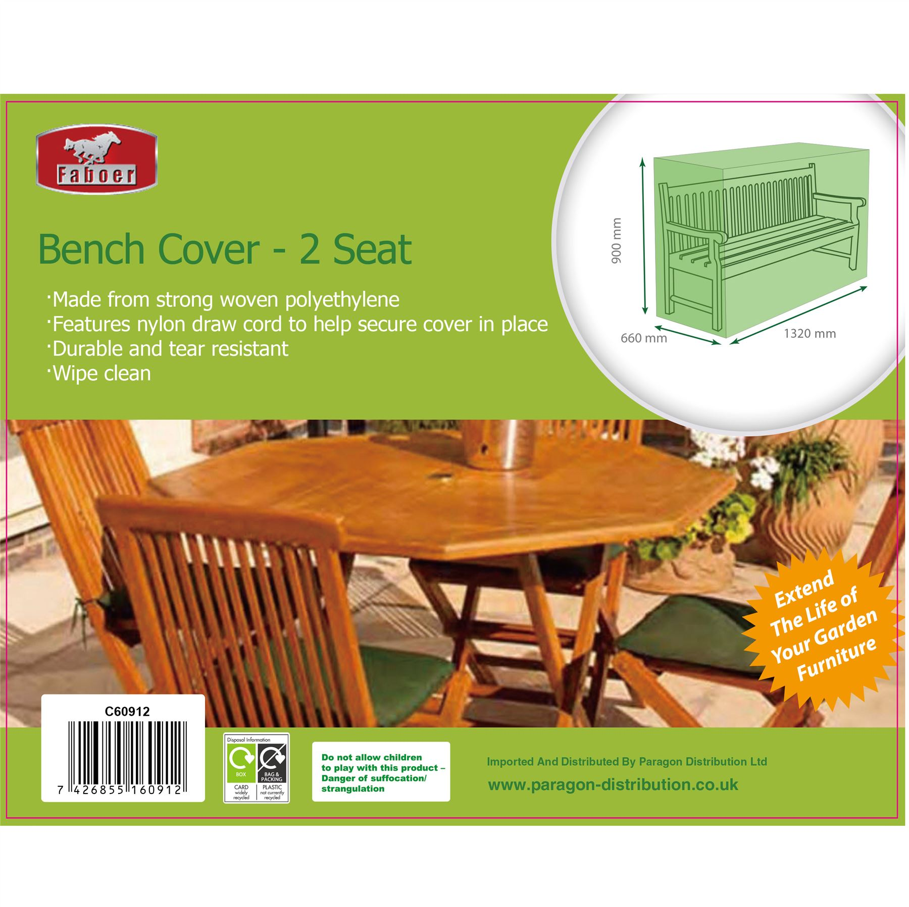 Cool Details About Faboer Heavy Duty Garden Patio Outdoor 2 Seater Bench Seat Furniture Cover Green Machost Co Dining Chair Design Ideas Machostcouk
