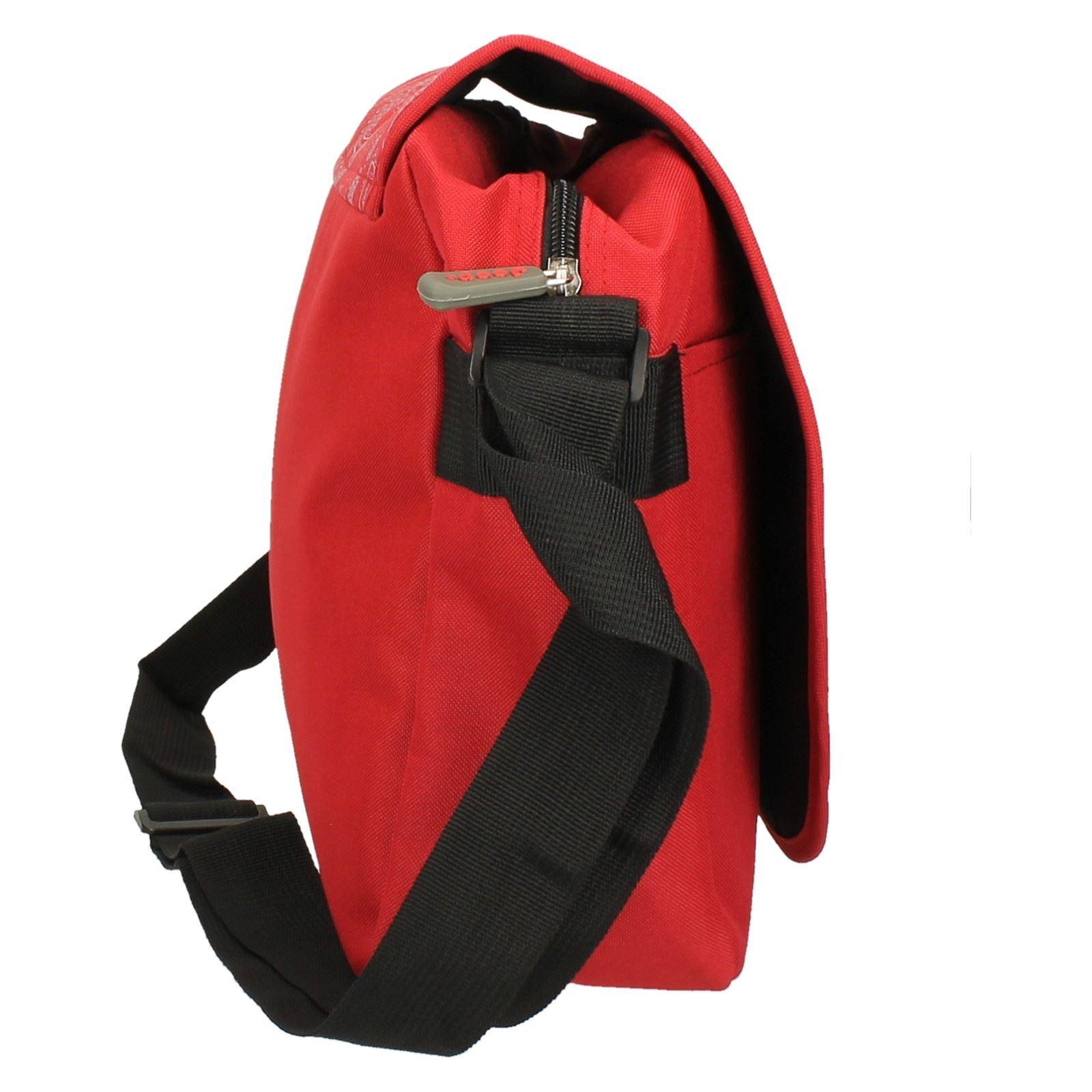 10b9c778554f Jeep Ladies Girls Red Floral Print School Laptop Computer Messenger Courier  Bag. Product Details