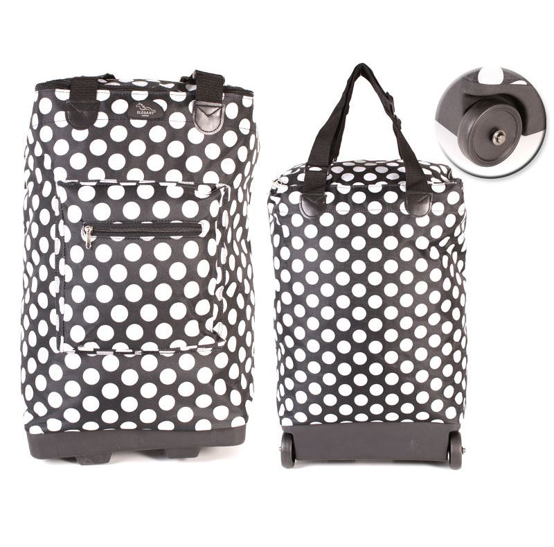 2 wheels light weight wheeled shopper folding shopping trolley bag on wheels ebay. Black Bedroom Furniture Sets. Home Design Ideas