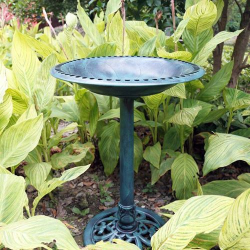 Bird-Bath-Feeder-Bowl-With-Solar-Light-Garden-amp-Patio-Bird-Feeding-Table-Station thumbnail 4