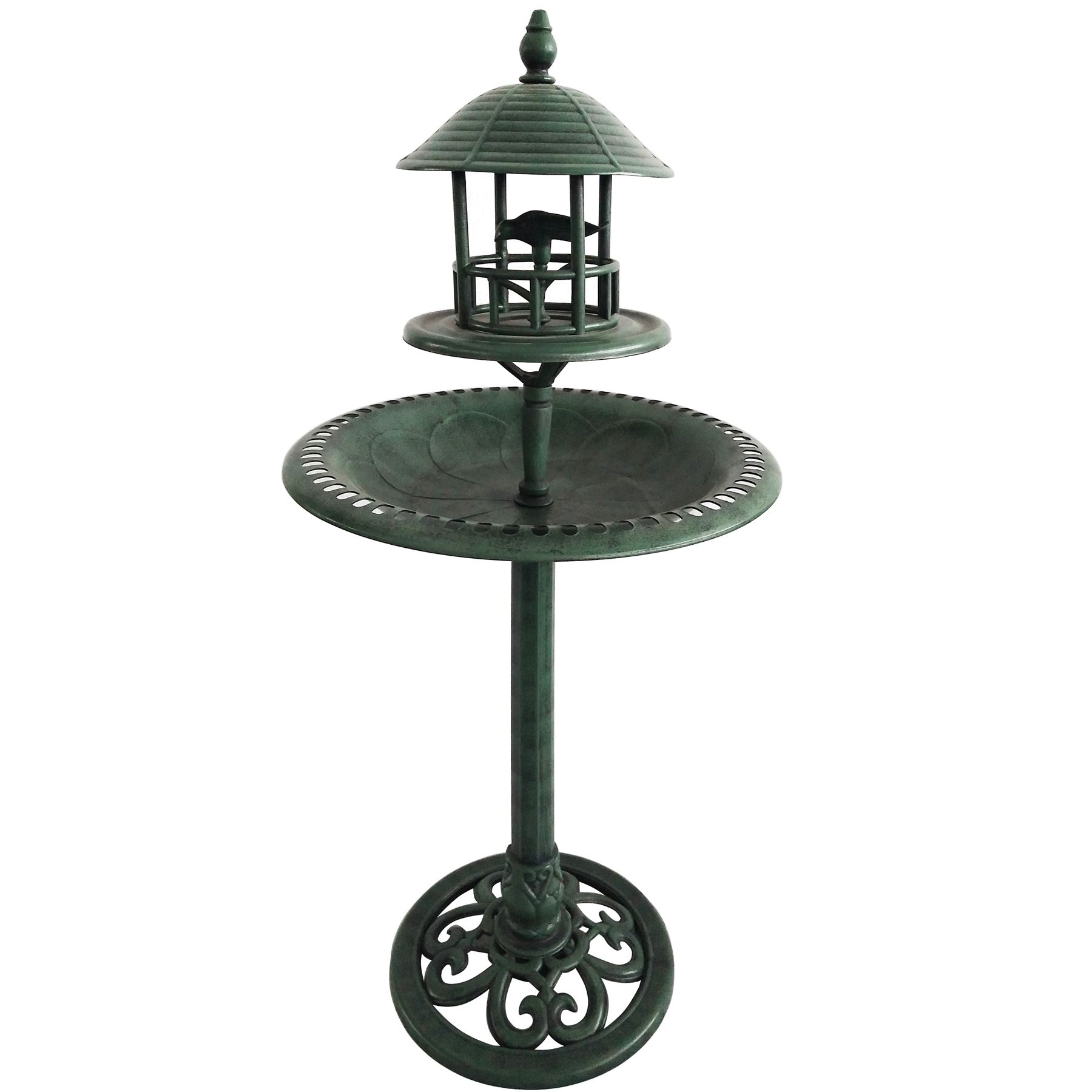 Bird-Bath-Feeder-Bowl-With-Solar-Light-Garden-amp-Patio-Bird-Feeding-Table-Station thumbnail 7