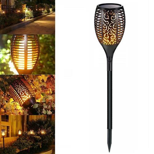 Flame Solar Torch Lights Dancing Flickering LED Waterproof Garden Path Lawn Lamp