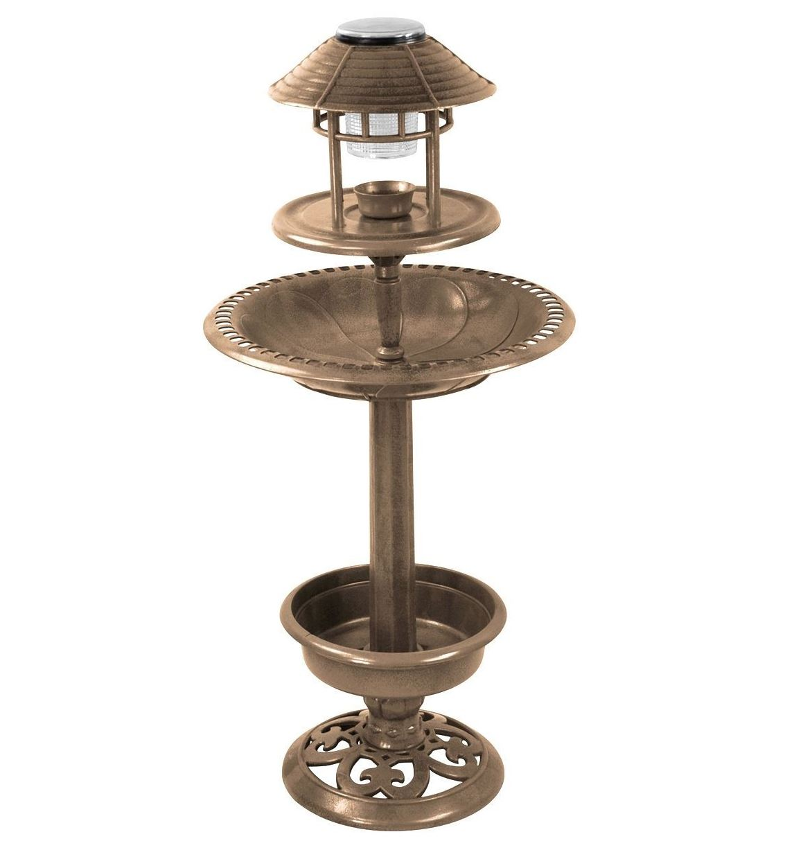 Bird-Bath-Feeder-Bowl-With-Solar-Light-Garden-amp-Patio-Bird-Feeding-Table-Station thumbnail 10