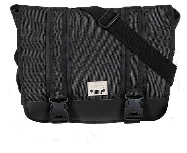 3d799a0c48 Jeep Laptop Messenger Unisex School College Journey Courier Shoulder Bag  Black. Product Details