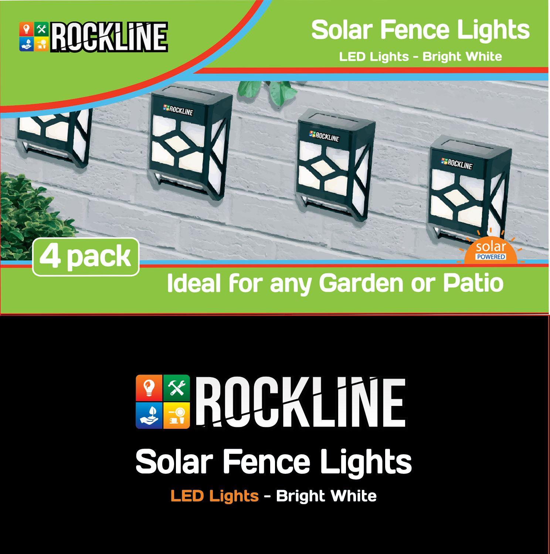 4 PACK SOLAR POWERED FENCE WALL DOOR STEP SMD LED LIGHT OUTDOOR GARDEN LIGHTING