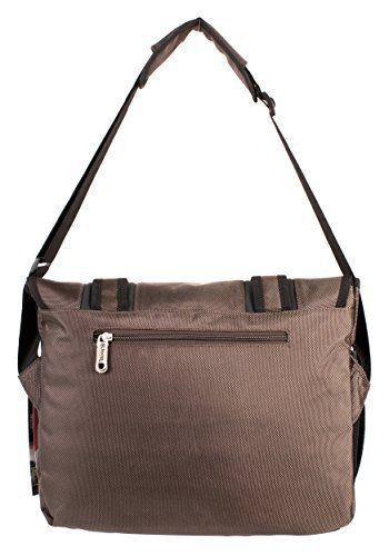 20ca2fe4f7 Jeep Laptop Messenger Unisex School College Journey Courier Shoulder Bag  Brown