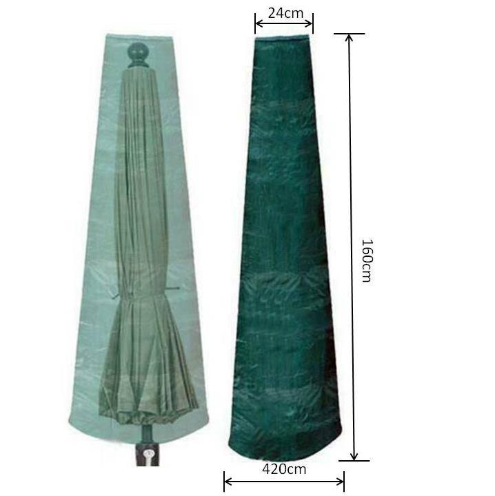 Heavy Duty 420D Parasol Cantilever Umbrella Cover Waterproof Garden Furniture UK