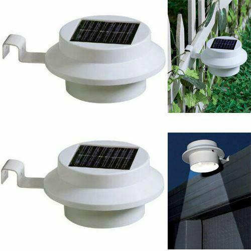 Solar Powered Led Gutter Door Wall Fence Lights Outdoor Solar Garden Security UK