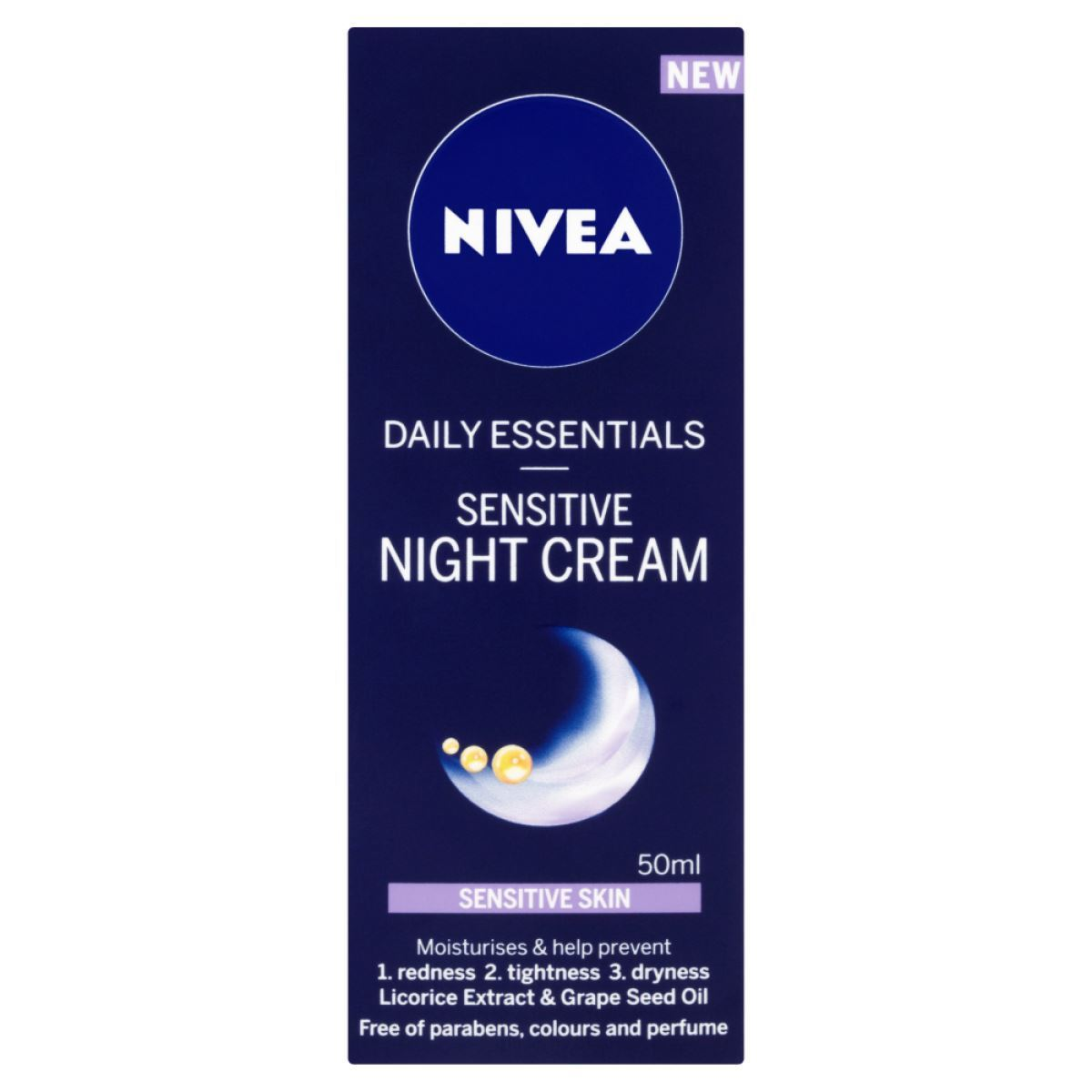 Nivea-Daily-Essentials-Sensitive-Night-Cream-50ml-1-2-3-6-12-Packs