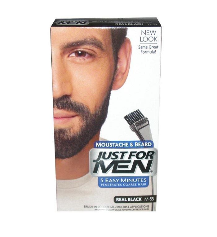 Just-For-Men-Moustache-and-Beard-Real-Black-M55-28ml-1-2-3-6-12-Packs
