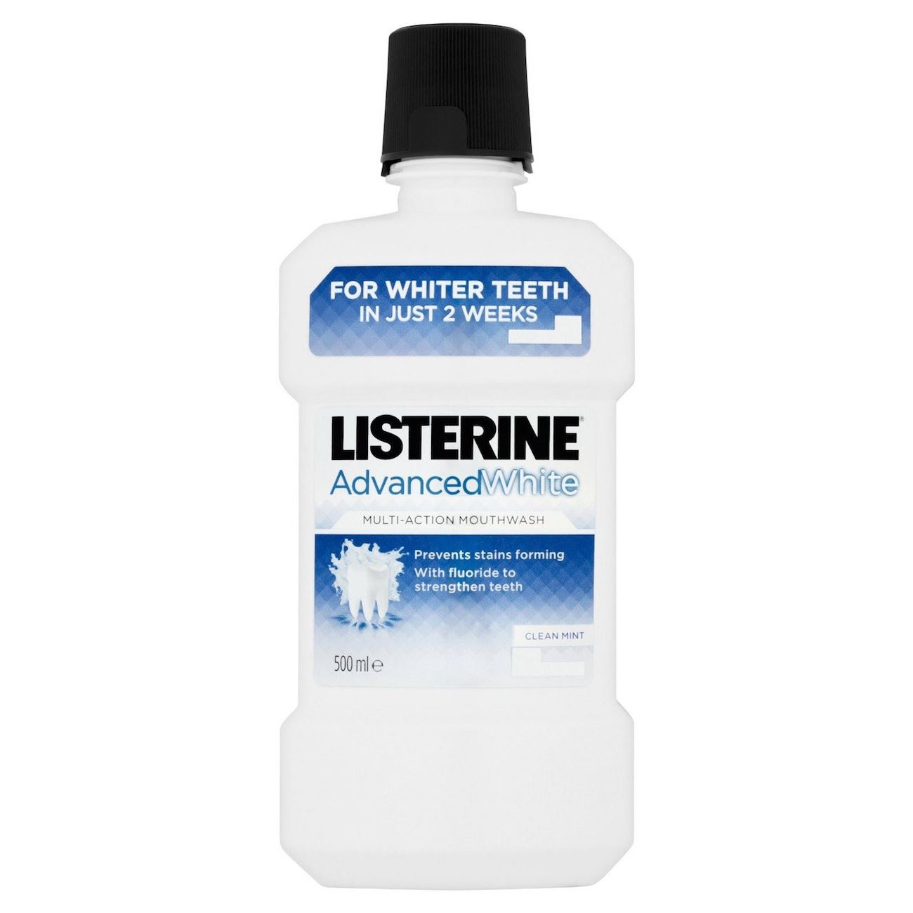 Listerine advanced white multi action mouthwash clean mint 500ml 2 pack ebay - Unusual uses for mouthwash ...