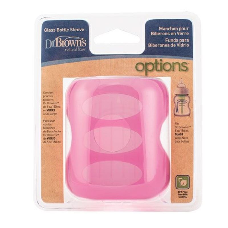 Dr-Brown-039-s-Pink-Sleeve-for-150ml-Glass-Bottle