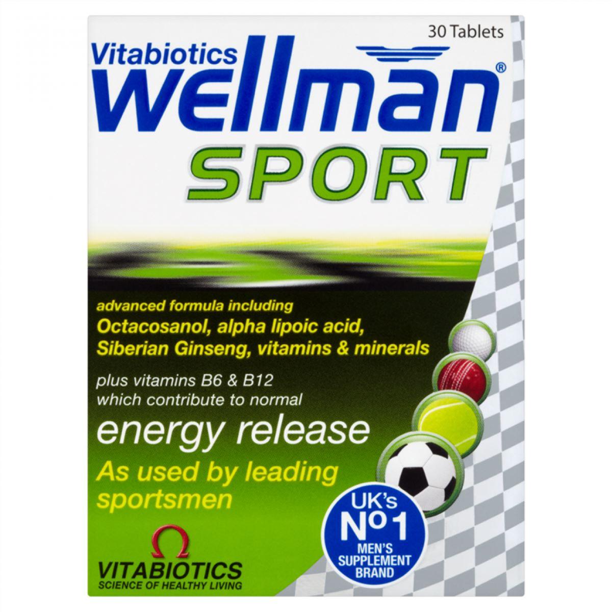 Vitabiotics Wellman Sport 30 Tablets - 3 Pack