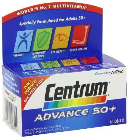 Centrum Advance 50+ Multivitamin Multimineral 60 tablets 1 2 3 6 Packs