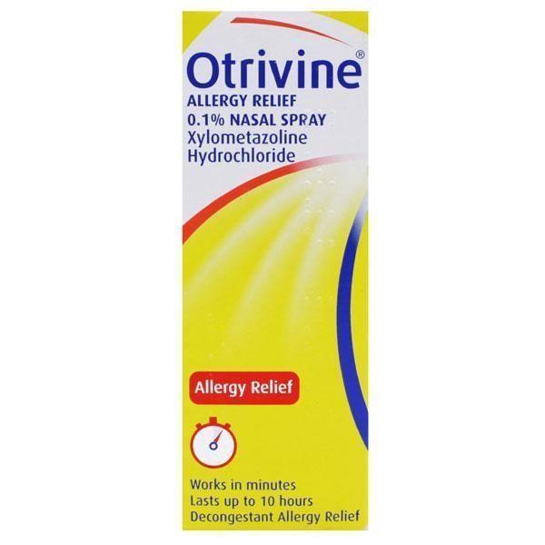 Details about Otrivine Allergy Relief Nasal Spray 10ml 1 2 3 6 12 Packs