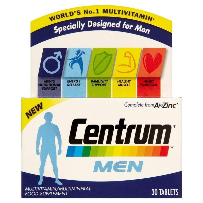 Centrum Men Multivitamin Multimineral Food Supplement 30 Tablets 1 2 3 6 Packs