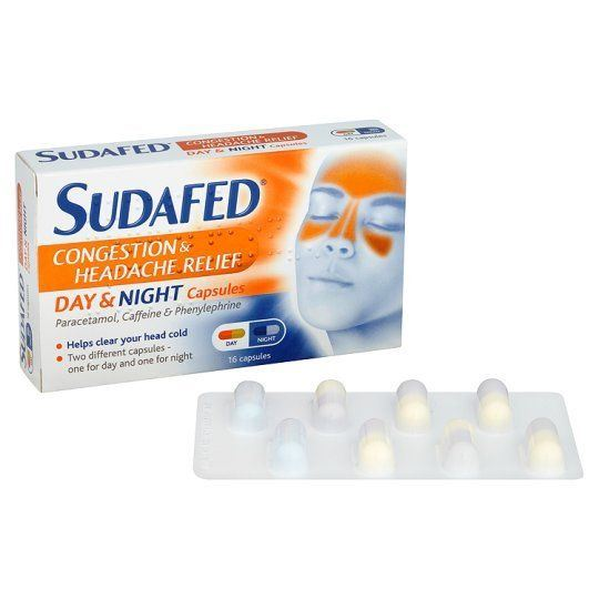 Sudafed Congestion & Headache Day & Night Relief - 6 Pack