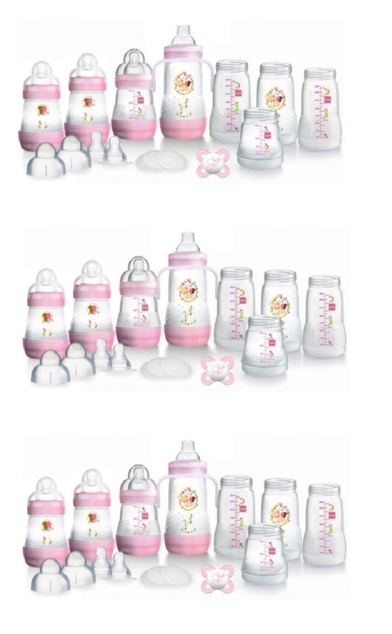 MAM-Anti-Colic-Self-Sterilising-Bottle-Starter-Set-Pink-1-2-3-6-12-Packs