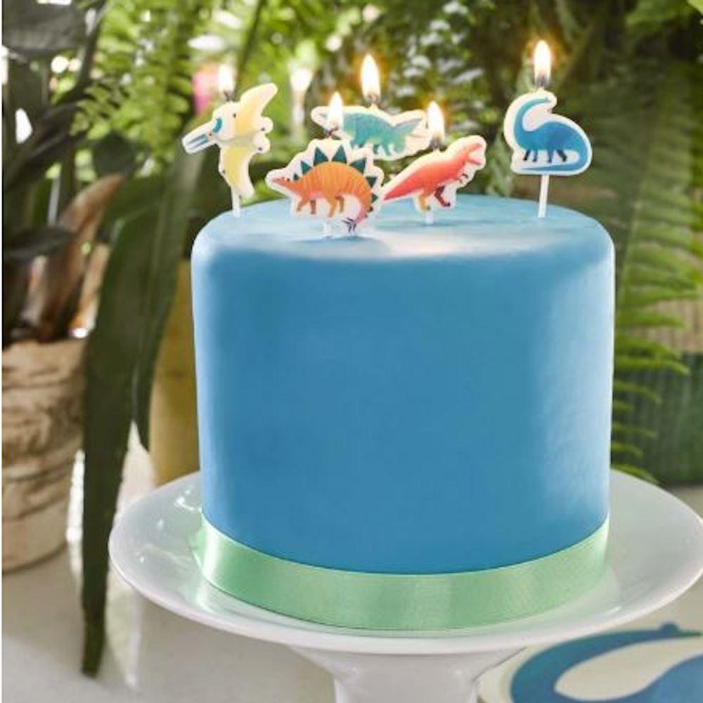 5 Dinosaur Birthday Party Cake Candles, Dinosaur Birthday Party, Party Candles, Dinosaur Decorations, Children's Dinosaur Party