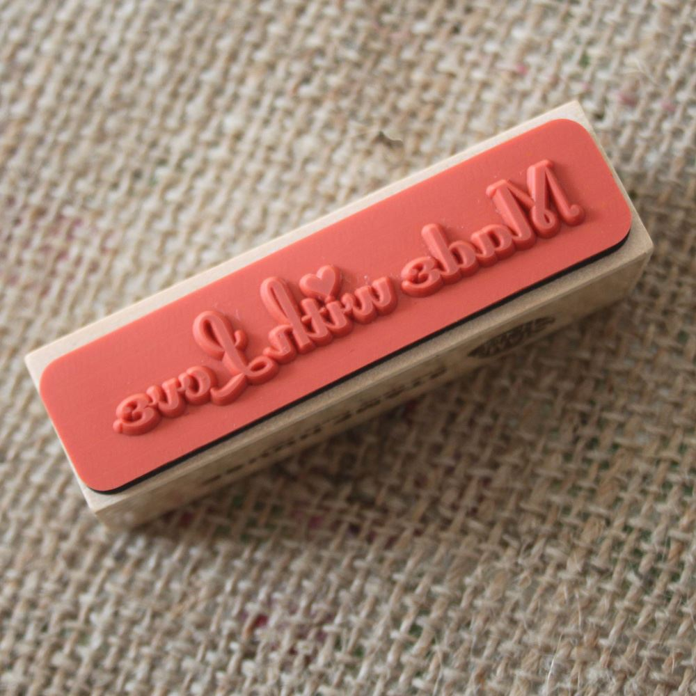 Made With Love Wooden Rubber Stamp, Craft Stamps, DIY Wedding Favours, Gift Tags, Christmas Craft, Scrapbooking Stamps, Handmade Stamp