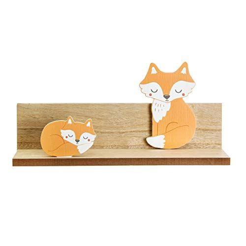 Wooden Fox Bedroom Nursery Shelf, Bedroom Decoration, New Baby Gift, Fox Decorations, Childrens Shelf, Nursery Decorations