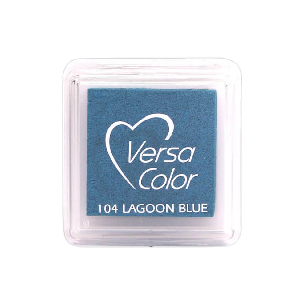Versacolor Lagoon Blue Ink Pad, Small Blue Pigment Ink Pad, Stamp Pad, Stamp Ink, Ink Stamp, Inkpad For Rubber Stamp, Blue Colour Ink Pad