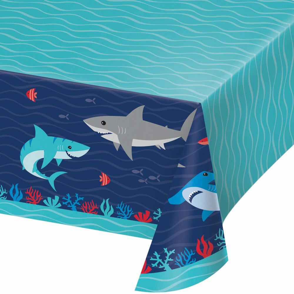 Shark Party Paper Table Cover 259 x 137cm