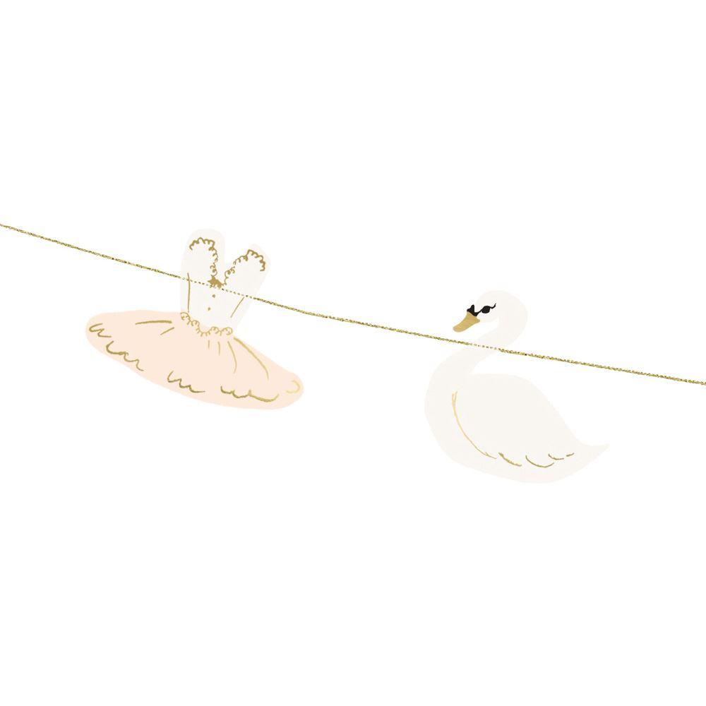 Swan Ballerina Garland Bunting 2m Party Bedroom Decoration