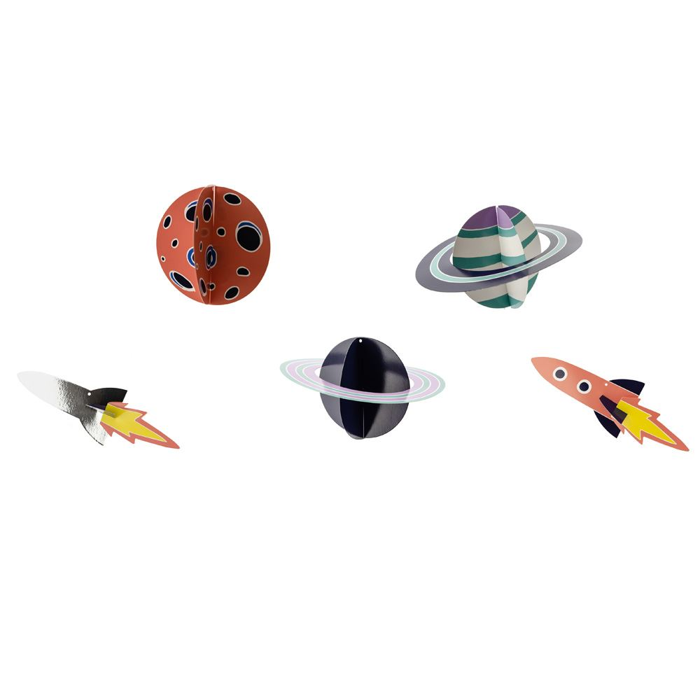 Space Decorations DIY Adventure Birthday Party x 5 Planets Rockets