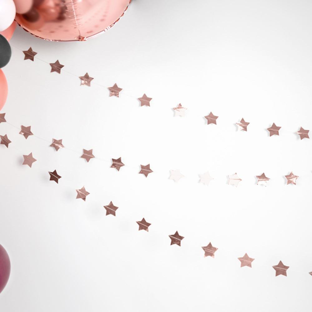 Star Garland Rose Gold 3.6 m Festive Christmas
