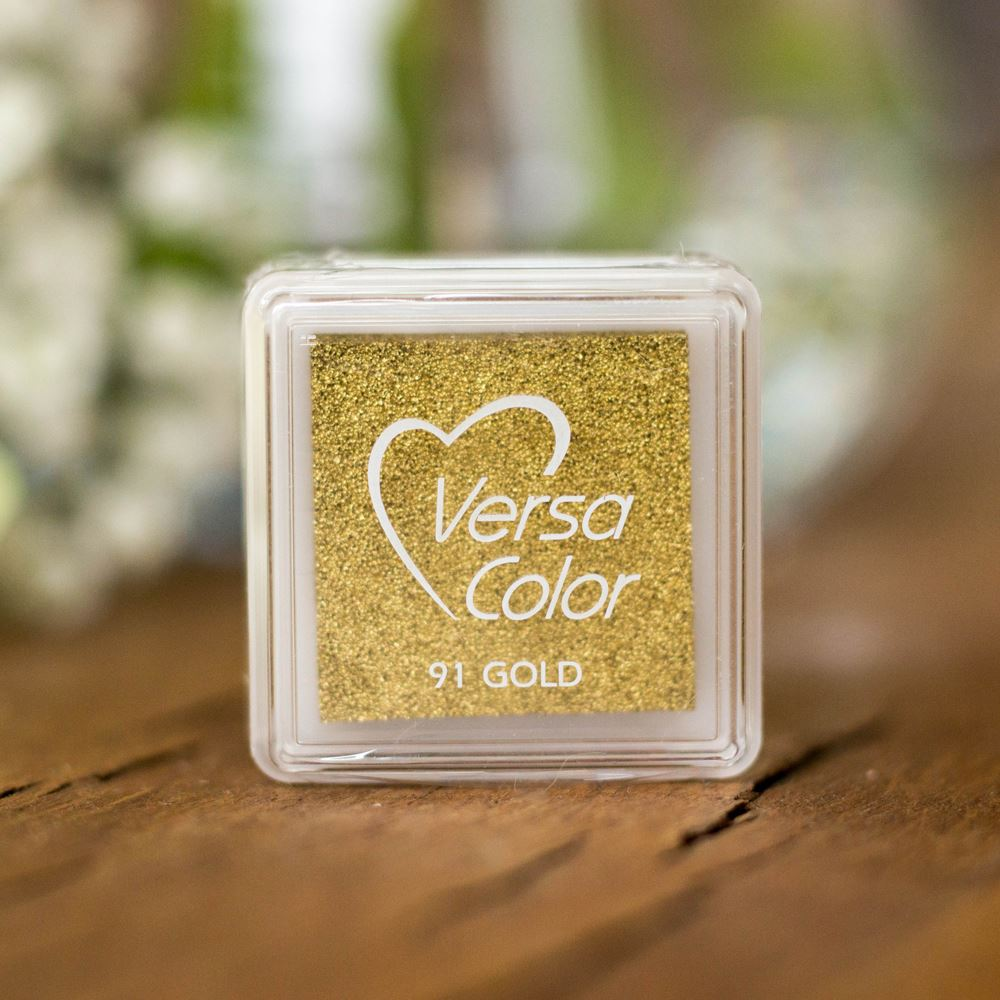 Versacolor Gold Small Pigment Ink Pad, Stamp Pad, Stamp Ink, Ink For Stamp, Inkpad For Rubber Stamp, Colour Ink Pad, Scrapbooking