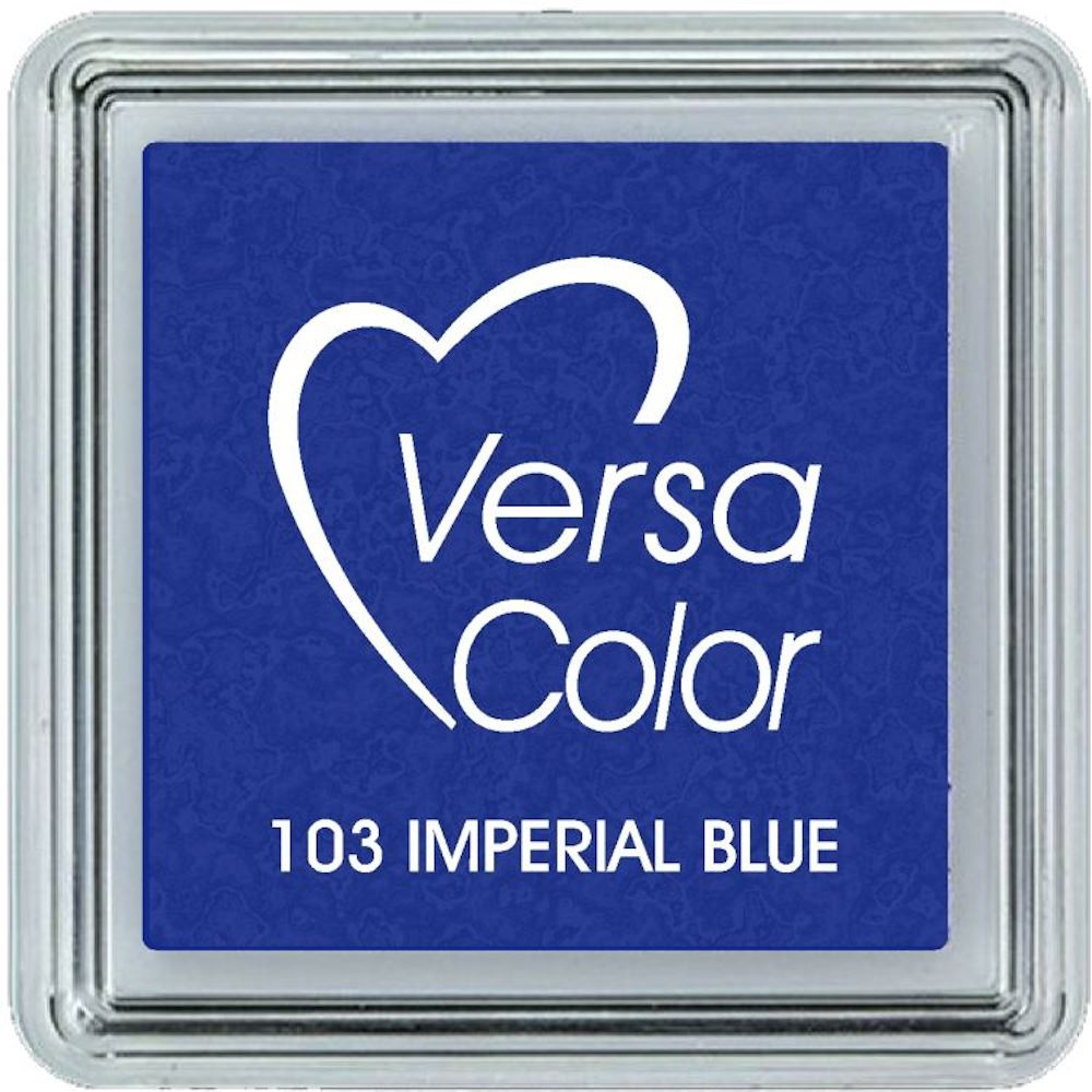 Versacolor Imperial Blue Ink Pad, Small Blue Pigment Ink Pad, Stamp Pad, Stamp Ink, Ink Stamp, Inkpad For Rubber Stamp, Blue Colour Ink Pad