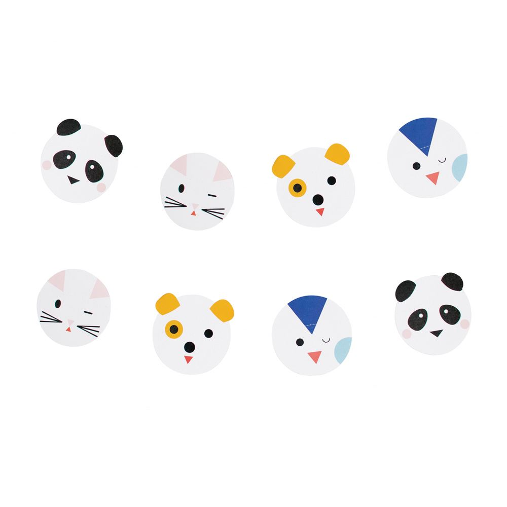 MINI ANIMALS Paper Bunting Garland 3m Childrens Party Decoration