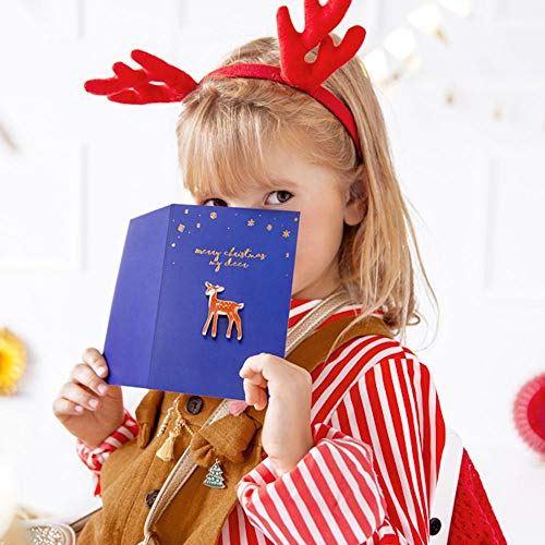 Christmas Greetings Card with a Keepsake Deer Enamel Pin