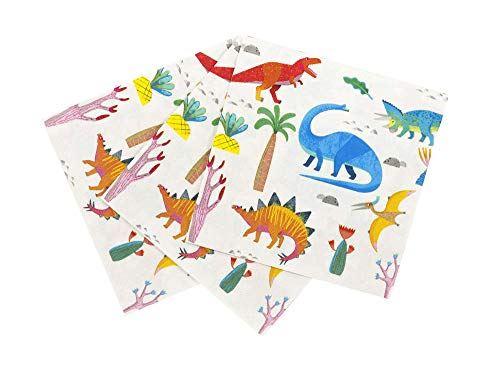 20 Dinosaur Party Paper Napkins, Dinosaur Birthday Decorations,  Boys Birthday Party, 1st Birthday Party, Children's Party, Kid's Party
