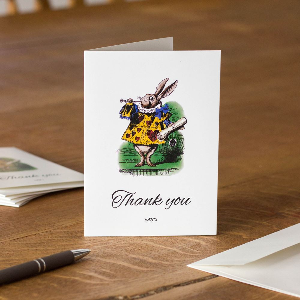 6 Thank You Cards, Alice in Wonderland Thank You Cards & Envelopes, Childrens Thank You Cards, Lockdown Cards, Easter Party, Christmas Cards